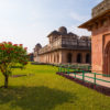 Mandu India, afghan ruins of islam kingdom, mosque monument and muslim tomb. Jahaz Mahal.